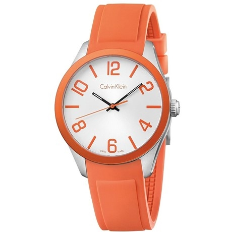Unisex-Uhr Calvin Klein Color Orange