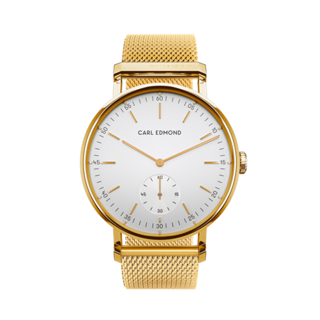 Carl Edmond white deluxe woman gold 32mm Mesh